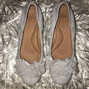UGG Grey Fifi Suede Block Heels, 8M